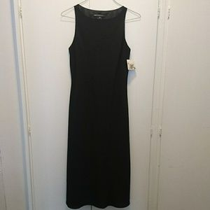 JONES WEAR Long Black Dress Sequins Sz 10 NEW